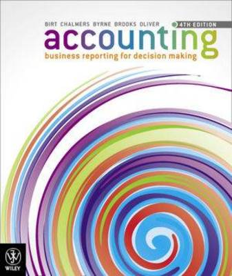 Accounting - Business Reporting for Decision Making 4E Study Guide