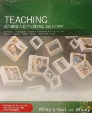 Teaching Making a Difference 2E Wiley E-text Powered By Vitalsource with Istudy Version 3 Card