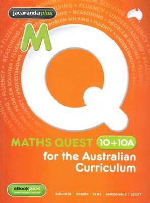 Maths Quest 10+10a for the Australian Curriculum & EBookPLUS