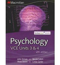 Psychology Vce Units 3 & 4: Vce Units 3 and 4