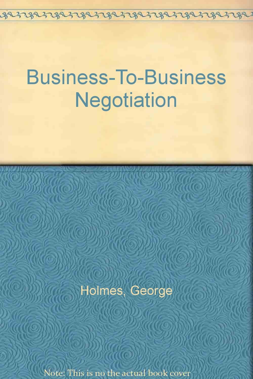 Business to Business Negotiation