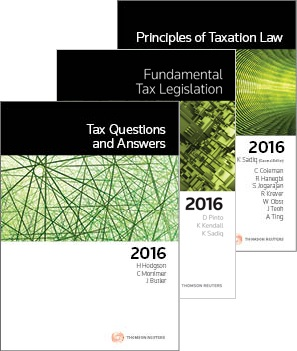 Tax Kit 11 2016 (Principles Of Taxation Law 2016 + Fundamental Tax Legislation 2016 + Tax Questions And Answers 2016)