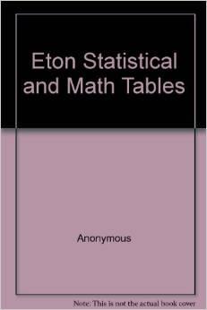 Statistical & Math Tables