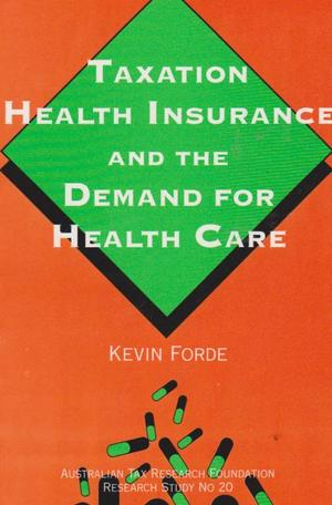 Taxation Health Insurance - Research Study # 20