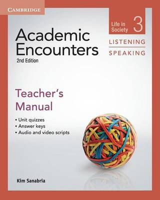 Academic Encounters Level 3 Teacher's Manual Listening and Speaking: Life in Society