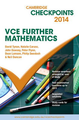 Cambridge Checkpoints VCE Further Mathematics 2014 and Quiz Me More