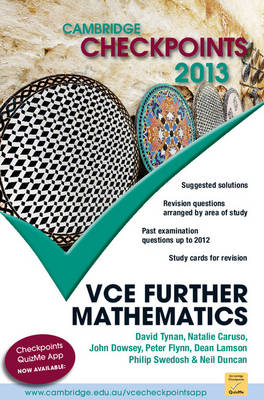 Cambridge Checkpoints VCE Further Mathematics 2013