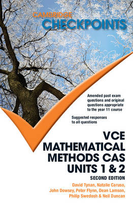 Cambridge Checkpoints VCE Mathematical Methods CAS Units 1 and 2