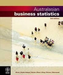 Australasian Business Statistics 3E Wileyplus/Istudy