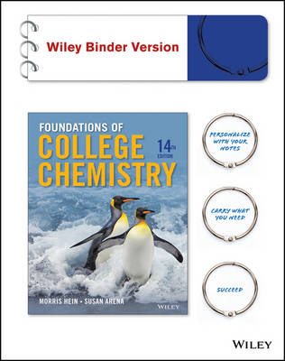 Foundations of College Chemistry 14E Binder Ready Version with WileyPLUS Card