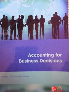 CUST Accounting for Business Decisions