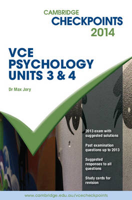 Cambridge Checkpoints VCE Psychology Units 3 and 4 2014 Book