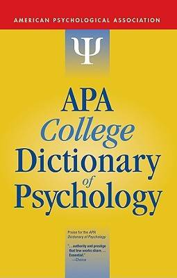 APA College Dictionary of Psychology