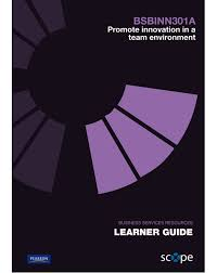 BSBINN301A Promote innovation in a team environment Learner Guide