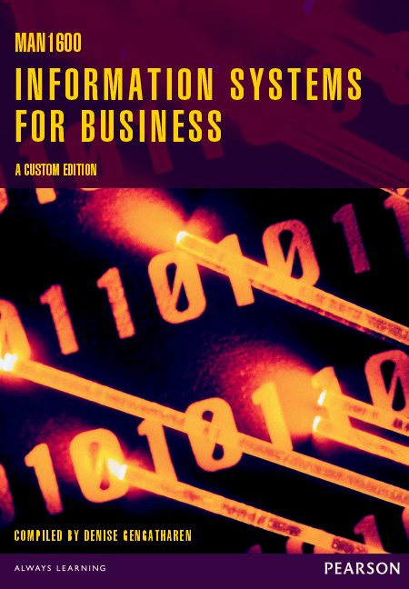 MAN1600 Information Systems for Business Custom Book