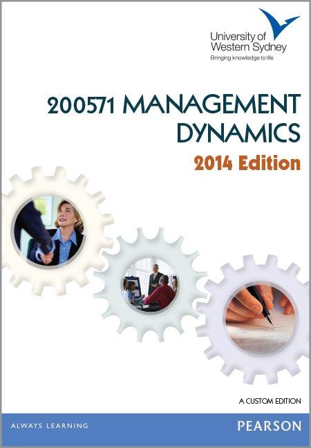 200571 Management Dynamics Custom Publication 2014 Edition