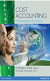 Value Pack Cost Accounting: A Managerial Emphasis + MyAccountingLab + eText + Pearson Interactive Computer Assignments