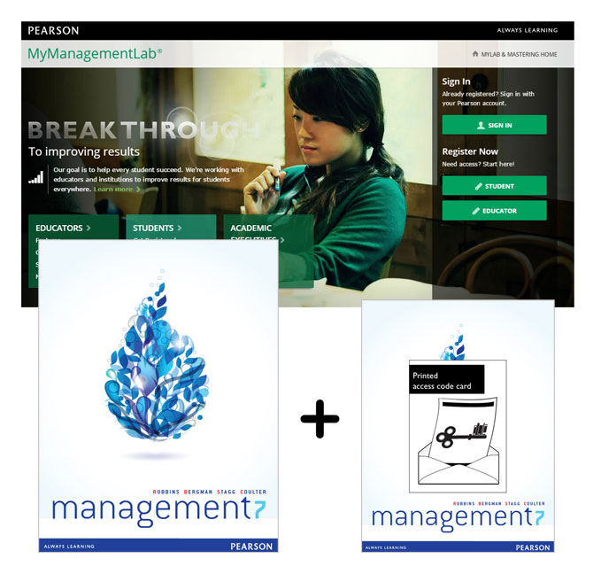 Value Pack Management + MyManagementLab with eText