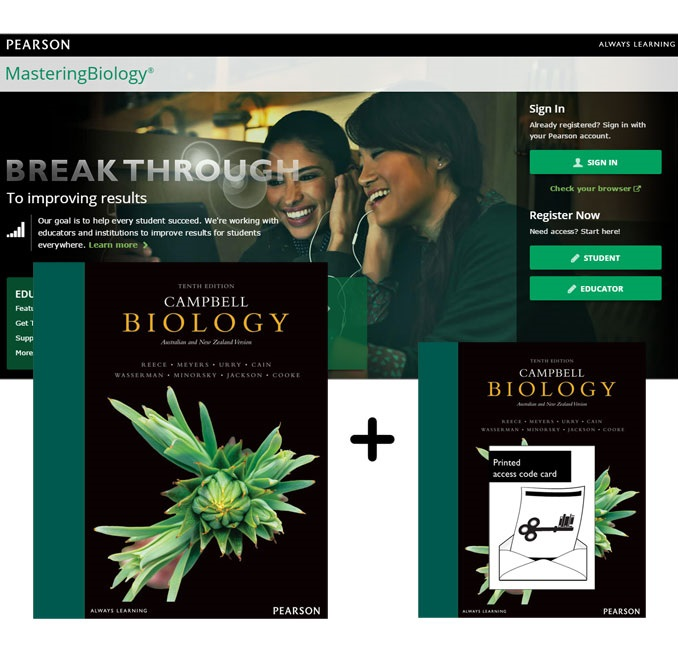 Value Pack Campbell Biology Australian and New Zealand Edition + MasteringBiology + eText