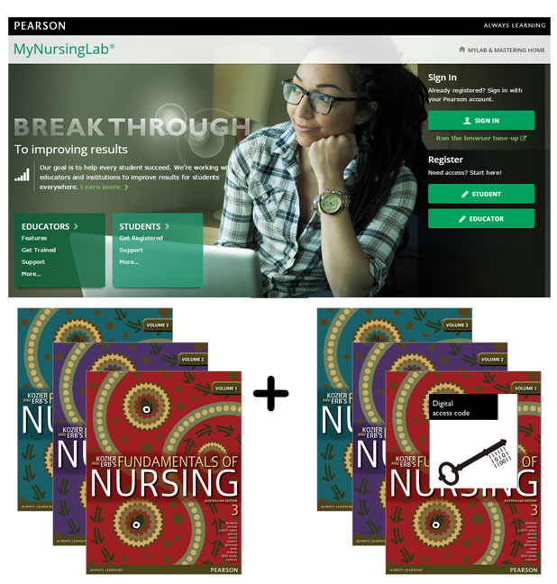 Value Pack Kozier and Erb's Fundamentals of Nursing Volumes 1-3 Australian Edition + MyNursingLab + eText