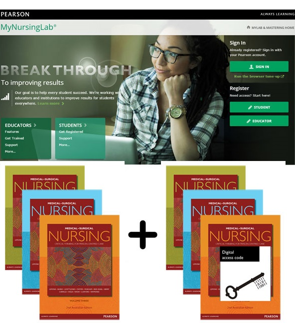 Value Pack Medical-Surgical Nursing (Australian Edition) Volumes 1-3 + MyNursingLab with eText