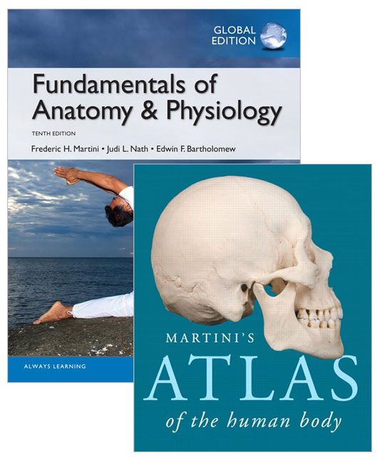 Value Pack Fundamentals of Anatomy and Physiology (Global Edition) + Martini's Atlas of the Human Body