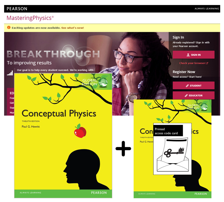 Value Pack Conceptual Physics Global Edition + MasteringPhysics with eText