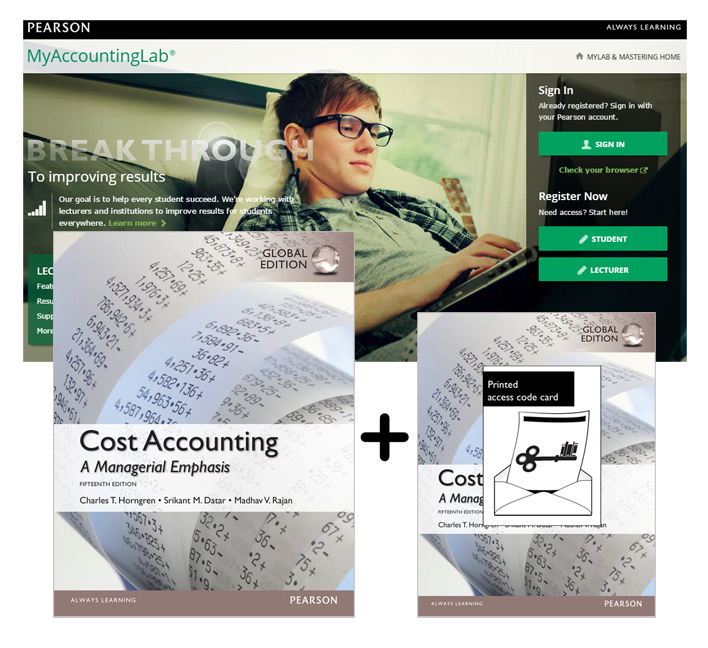 Value Pack Cost Accounting Global Edition + MyAccountingLab with eText