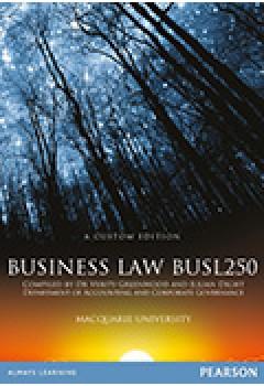 Business Law BUSL250 3rd Edition Custom Edition