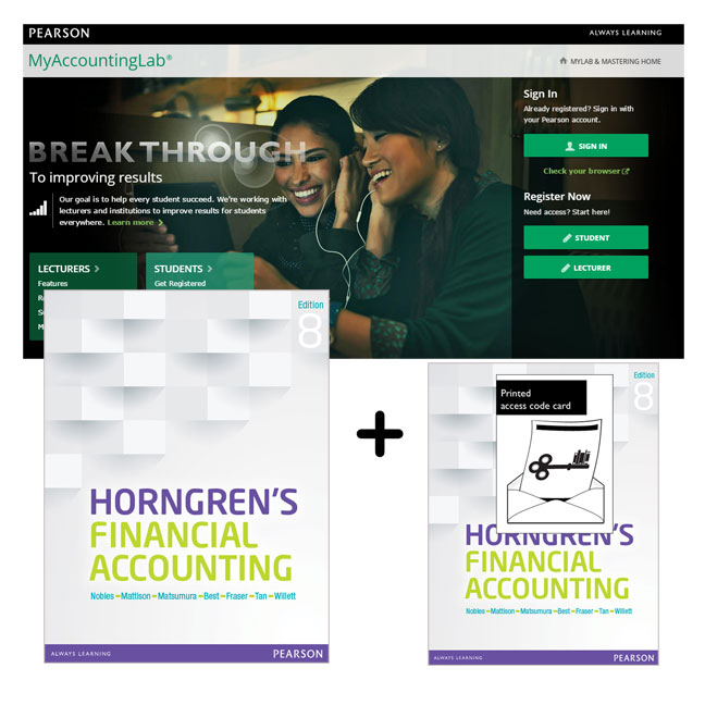 Value Pack Horngren's Financial Accounting + MyAccountingLab with eText