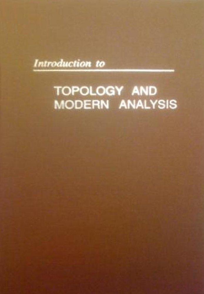 Intro Topology & Modern Analysis