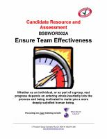 BSBWOR502A Ensure Team Effectiveness