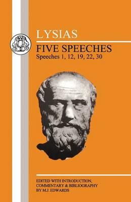 Five Speeches: 1, 12, 19, 22, 30