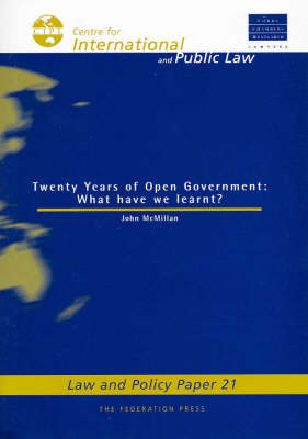 Two Decades of Open Government: What Have We Learnt?
