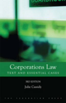 Corporations Law: Text and Essential Cases